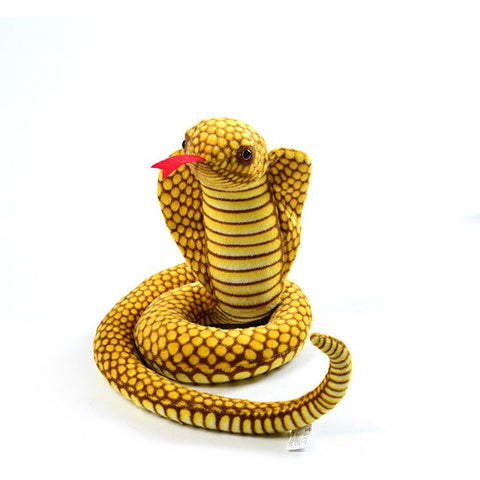 Giant Snake Stuffed Animal <br> Yellow Cobra - The Vipers House