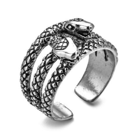 double snake ring stainless steel jewel