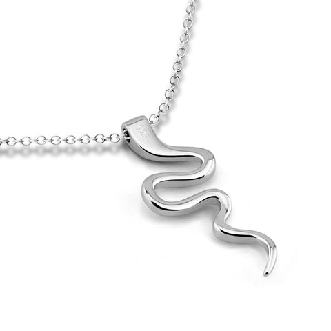 Snake Necklace - Platine Viper - The Vipers House