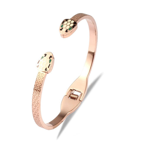 Snake bracelet - Viper Pink Gold (steel) - The Vipers House