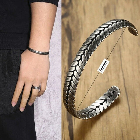 Snake bracelet <br> Scaled serpent (steel)
