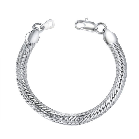Snake bracelet - Silver Skin - The Vipers House