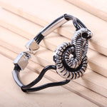 Snake bracelet <br> Real Cobra Head (steel)