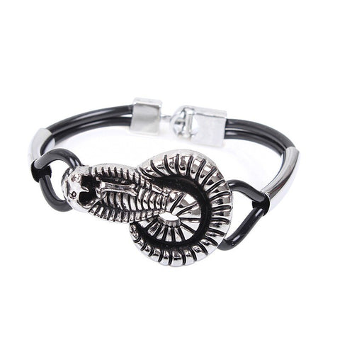 Snake bracelet - Real Cobra Head (steel) - The Vipers House