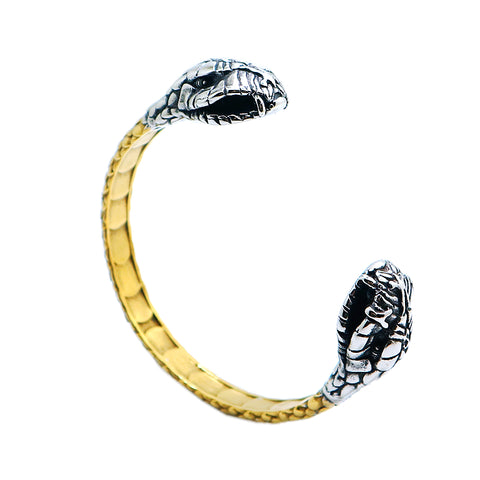 Snake bracelet - Boa Double Head (steel) - The Vipers House