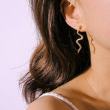 Snake Earrings <br> Little Gold Boa (steel)