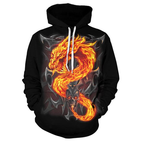 Snake Hoodie - Fire Serpent - The Vipers House