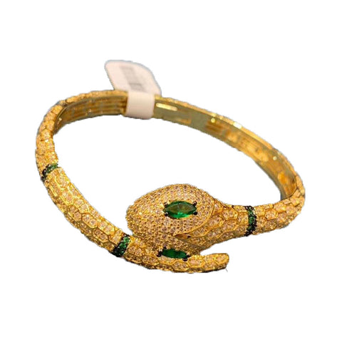 Snake Bracelet - Vintage Gold Boa - The Vipers House