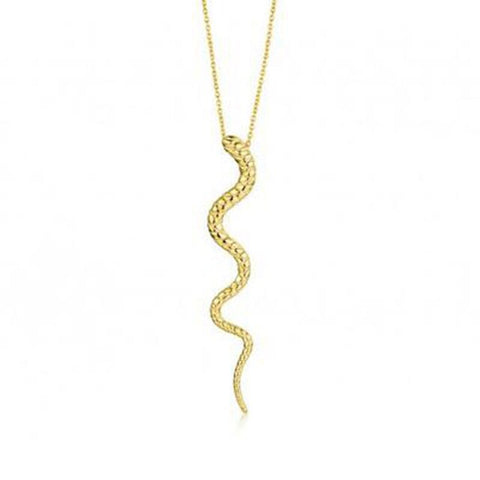 Snake Pendant Necklace Silver - The Vipers House