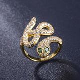 Snake Ring <br> Antique (steel)