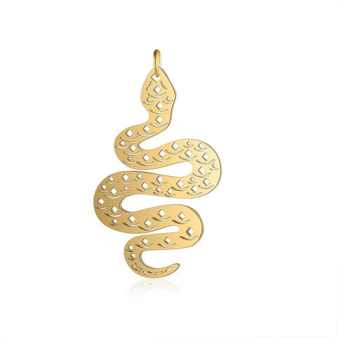 Snake Necklace - Gold Python - The Vipers House