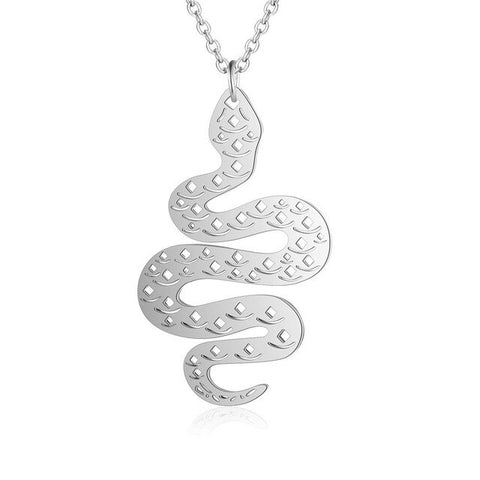 Silver Snake Necklace - The Vipers House
