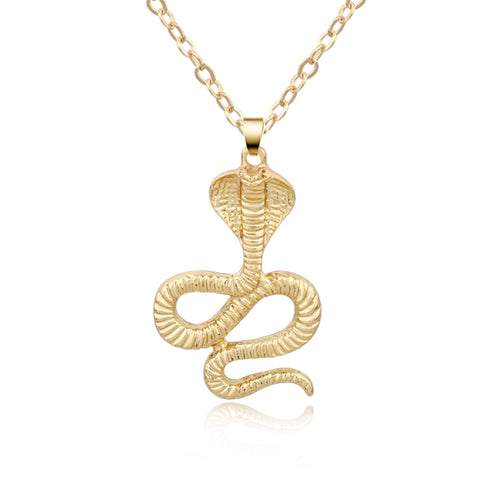 Snake Pendant Necklace Gold - The Vipers House