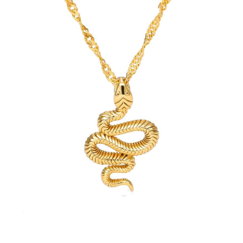 Coiled Snake Necklace - The Vipers House