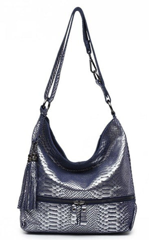 imitation leather snakeskin handbag