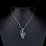 Snake Necklace <br> Venomous Crystals (Steel)