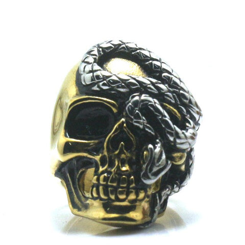 Snake Ring <br> Golden Gangster (steel)