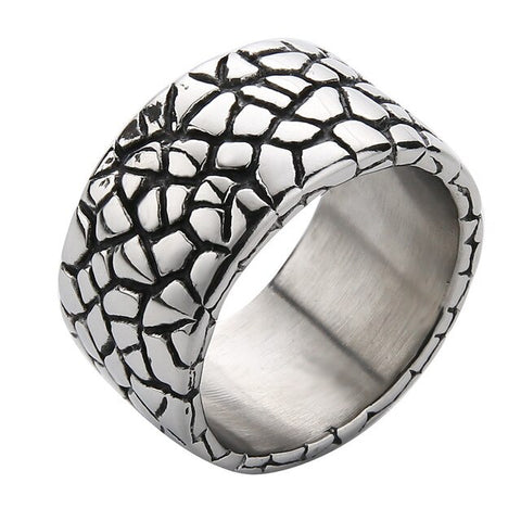 Snake Ring <br> Scale (silver) - The Vipers House