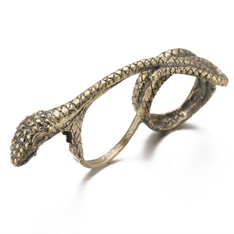 SNAKE RING <br> FINENESS TWO FINGERS (STEEL)