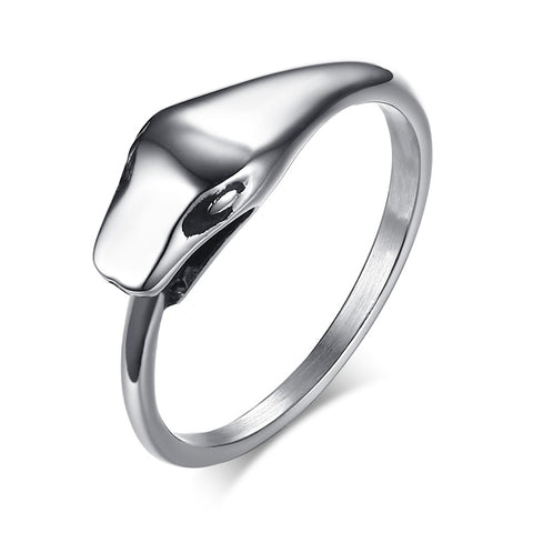 Snake Ring Polished Ouroboros