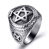 Snake Ring  <br> Star Of David (steel)