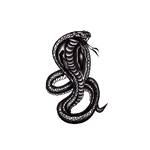 Temporary snake tattoo <br> Royal Cobra - The Vipers House