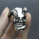 skull and serpent ring the vipers house