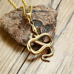 snake necklace gold color metal