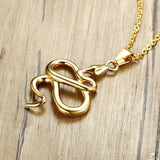 snake necklace yellow gold jewel
