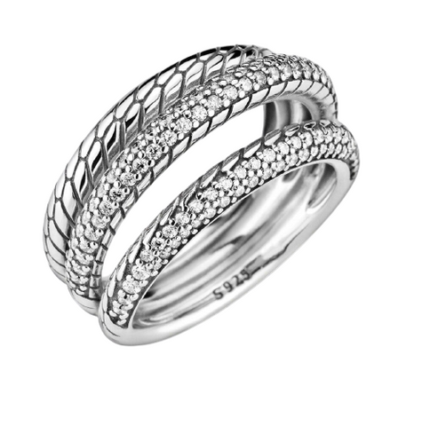 snake scale ring with diamond