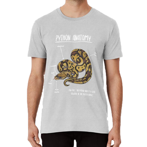 Snake T-shirt <br> Python Anatomy - The Vipers House