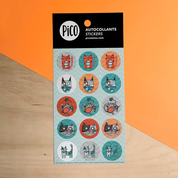 PiCO Tatoo, cats stickers.