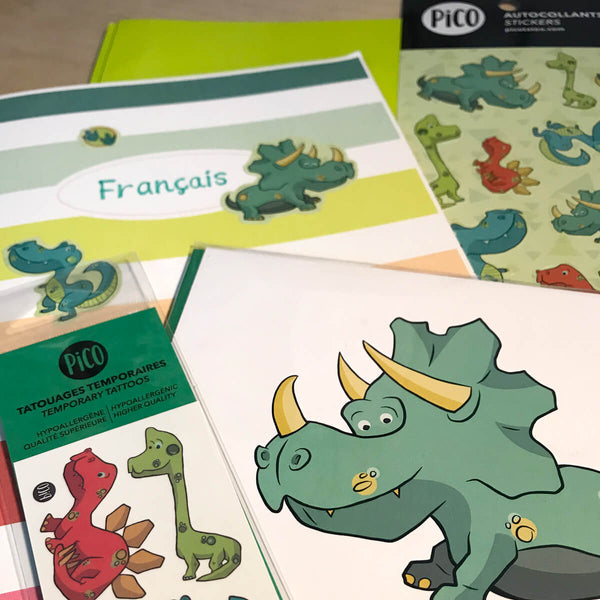 PiCO Tatoo, dinosaurs stickers.