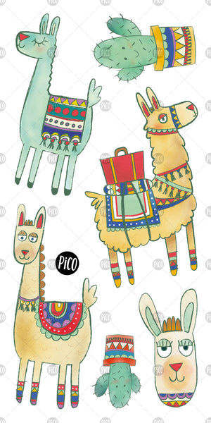 PiCO Tatoo, alpaca temporary tattoos.