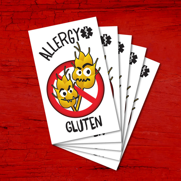 PiCO Tatoo, tatouages temporaires pour enfants ayant des allergies alimentaires au gluten. Gluten food allergy temporary tattoos.