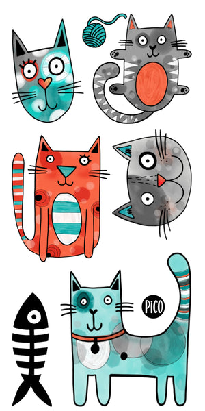 PiCO Tatoo, cat temporary tattoos.