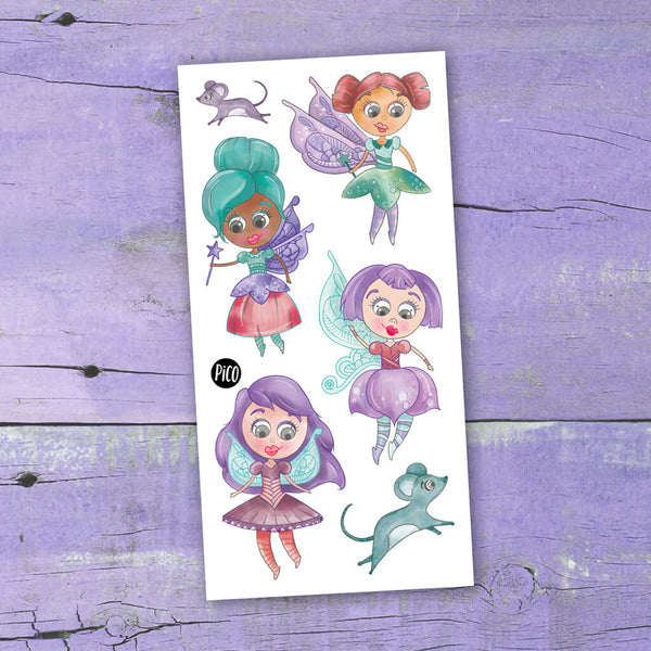 fées tatouages temporaires PiCO temporary tattoos fairies