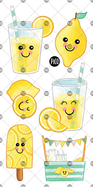 Lemonade and lemon temporary tattoos, PiCO Tatoo.