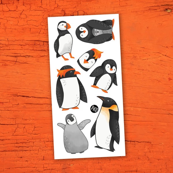 pingouins tatouages temporaires PICO temporary tattoos penguins
