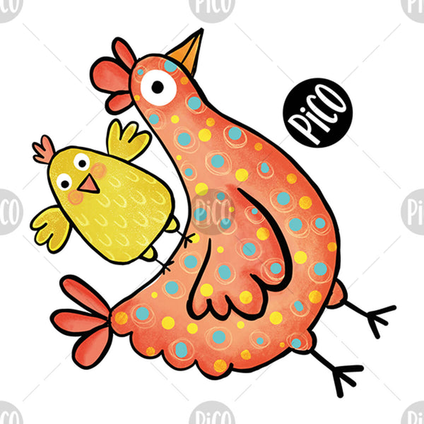 Easter chick and chicken bulk temporary tattoos, PiCO Tatoo.