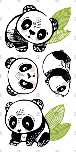 PiCO Tatoo, pandas temporary tattoos.