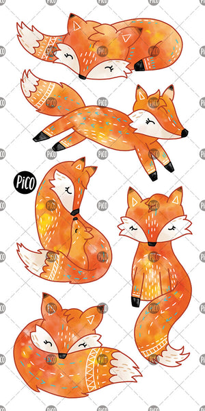 Litlle fox temporary tattoos by PiCO Tatoo