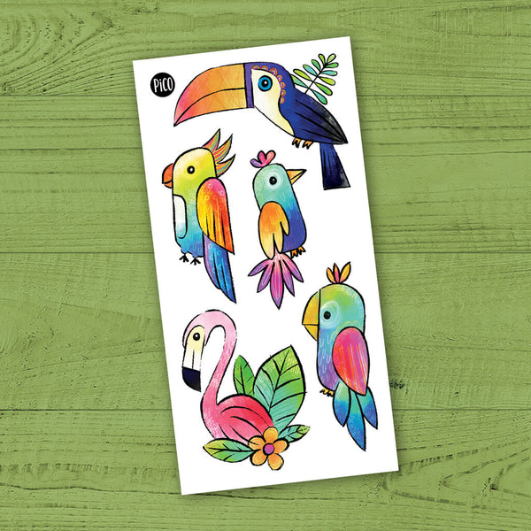 toucan tatouages temporaires PiCO temporary tattoos toucan