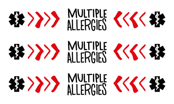 PiCO Tatoo, tatouages temporaires pour enfants ayant des allergies alimentaires. Food allergy temporary tattoos.