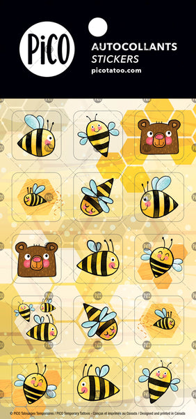 Beautiful bees stickers, PiCO Tatoo