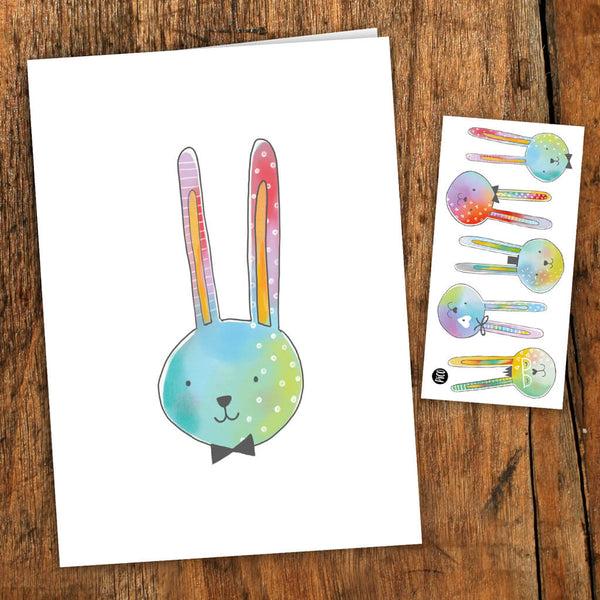 paques lapins carte de souhait tatouages temporaires PiCO temporary tattoos greeting card bunny easter