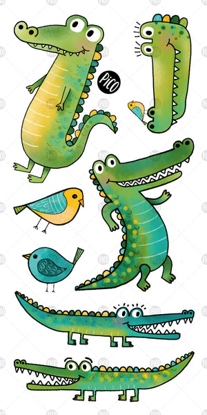 PiCO Tatoo, crocodile temporary tattoos.