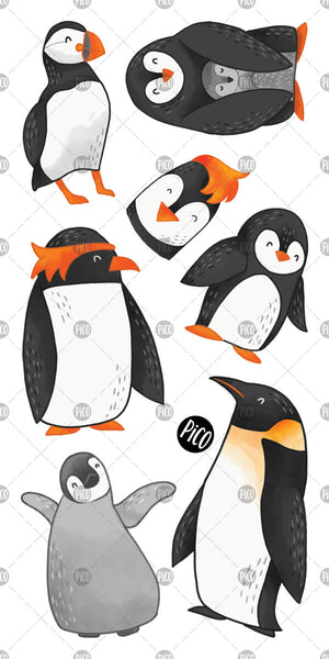 PiCO Tatoo, penguins temporary tattoos