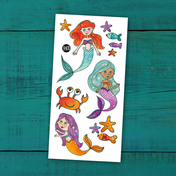 sirènes tatouages temporaires PiCO temporary tattoos mermaid