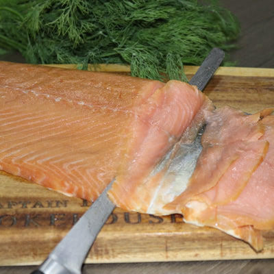 Special Price - Cold Smoked Atlantic Salmon Fillet - SKIN ON